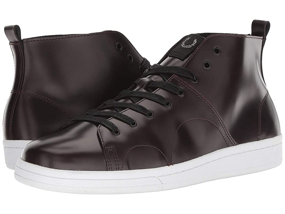 Fred Perry B721 X George Cox Monkey Boot Leather (Oxblood) Men