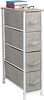 Sorbus Narrow Dresser Tower with 4 Drawers - Vertical Storage for Bedroom, Bathroom, Laundry, Closets, and More, Steel Fra...