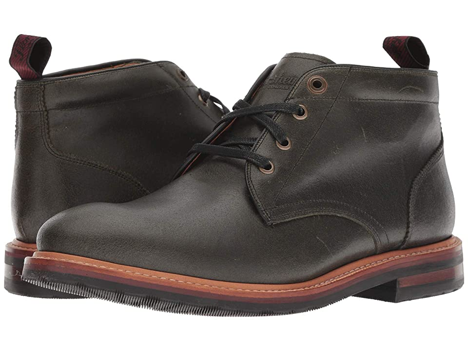 Florsheim Foundry Plain Toe Chukka Boot (Army Green CF Stead) Men