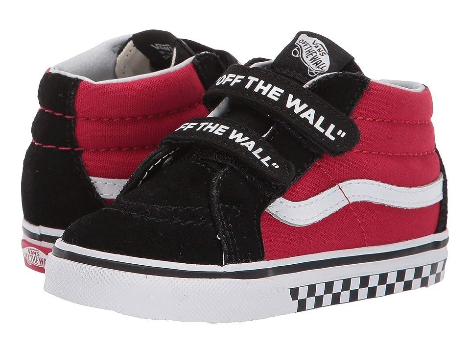 Vans Kids Sk8-Mid Reissue V (Toddler) ((Logo Pop) Black/True White) Boys Shoes
