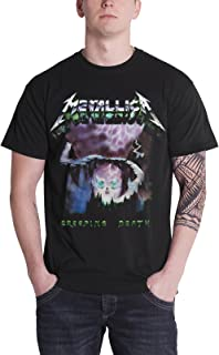 T Shirt Creeping Death Song Ride The Lightning Official Mens Black