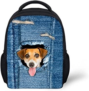SHUB FORUDESIGS Cute Cat Dog Print Children Small School Bags For 3-7 Years Girls