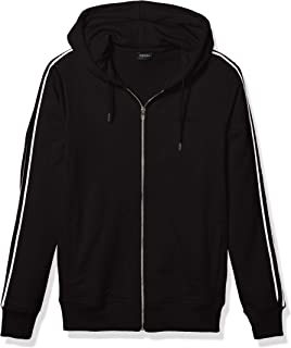 Diesel Men's Brandon-Z Zip UP Hoodie, black, M