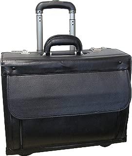 AmeriLeather Leather Wheeled Laptop Catalog Case
