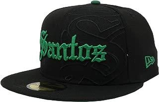 New Era 59Fifty Hat Santos Laguna Soccer Club Liga MX Grand Logo Black Fitted Cap