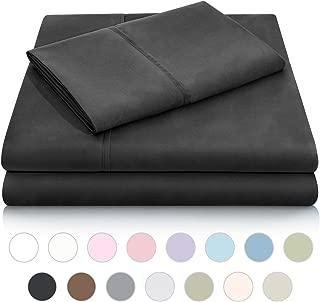 MALOUF Double Brushed Microfiber Super Soft Luxury Bed Sheet Set - Wrinkle Resistant - RV/Short Queen Size - Black