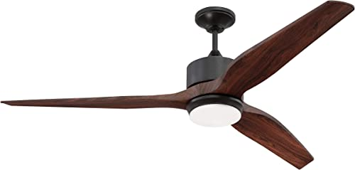 """discount Craftmade K11291 Mobi 60"""" Outdoor Ceiling Fan with 17 Watts LED Light popular Kit and Remote, online 3 ABS Blades, Oiled Light Bronze sale"""