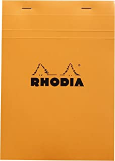 Rhodia Staplebound Notepads - Graph 80 sheets - 6 x 8 1/4 in. - Orange cover