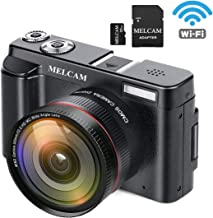 MELCAM Digital Video Camera Camcorder Full HD 1080P 24.0MP YouTube Vlogging Camera with Wide Angle Lens and 32GB SD Card, 3.0