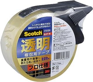 3M スリーエム スコッチ 梱包テープ プロ仕様 48mm×50m カッター付 375DSN