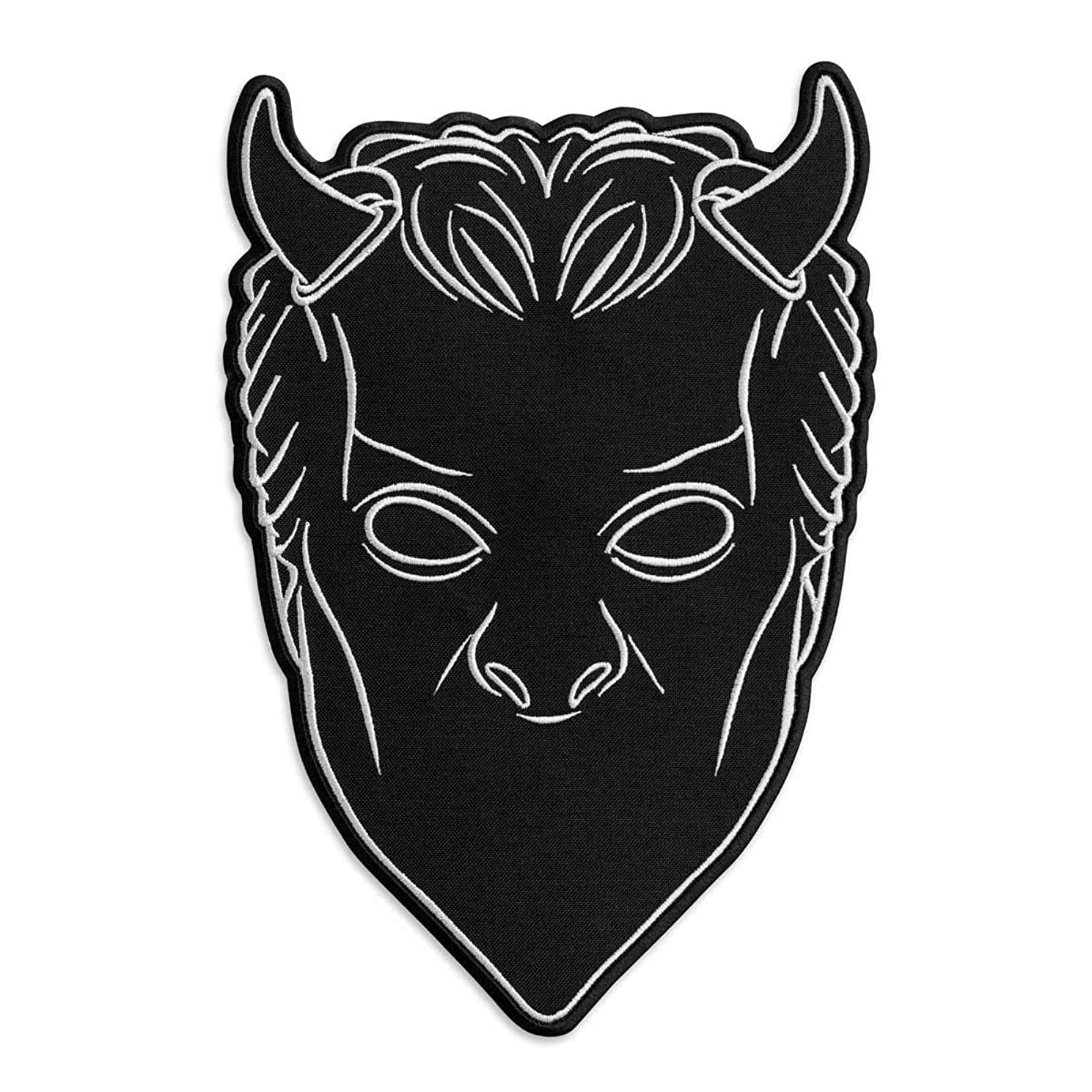 Ghost BC Nameless Ghouls Black Mask Heavy Metal Doom Hard Rock Band Embroidered Patch Iron On (2.7