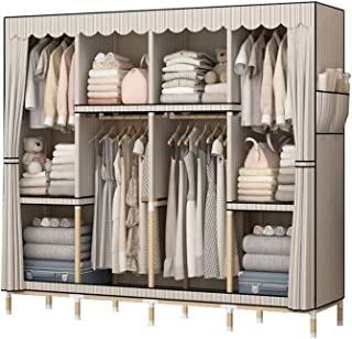 ZZYE Penderie tissu Placard portable, armoire en tissu pour chambre à coucher suspendue vêtements, portable Il peut déplac...