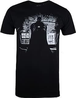 Batman Logo T-shirt Black on Black The Dark Knight Rises DC Comics Size S-6XL