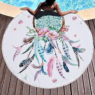 MANAGAL JQ 157 Serviette de plage Dreamcatcher Jacquard Rose 170 x 90 cm