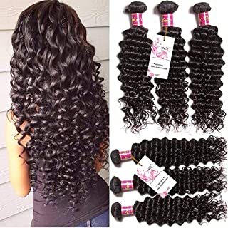 Unice Hair 16 14 12inch Brazilian Virgin Hair 3 Bundles Deep Wave Hair Extensions 7a Grade Unprocessed Human Hair Wave Natural Color Can Be Dyed and Bleached