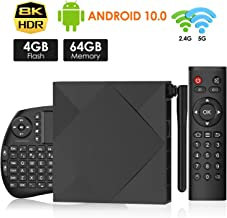$112 » DOLL 2020 Android 10.0 TV Box TX6s TV Box 4GB RAM 64GB ROM Allwinner H616 64-bit Quad core ARM Corte-A53 CPU Support 3D 8k Ultra HD H.265 2.4/5.0GHz WiFi 100M Ethernet with Wireless Keyboard