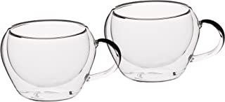 KitchenCraft Le'Xpress Double Walled Insulated Espresso Cups, 65 ml, Set of 2