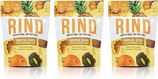 RIND Snacks Tropical Blend Dried Fruit Superfood, Pineapple, Tangy Kiwi, High Fiber, Vegan, Paleo, Whole 30, Non-GMO, 3oz,...