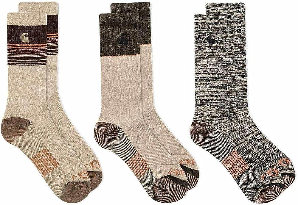 Carhartt Men's A0107-3 Force Merino Wool Crew Sock 3-Pack