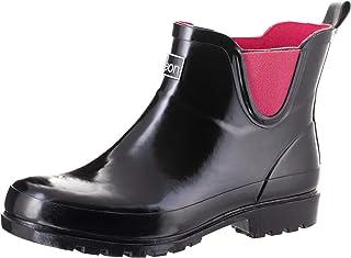 أحذية المطر Jileon بطول الكاحل واسعة الساق - مصممة خصيصًا للسيدات ذوي أقدام واسعة وسمانة - أحذية طويلة للمطر حتى الكاحل لل...