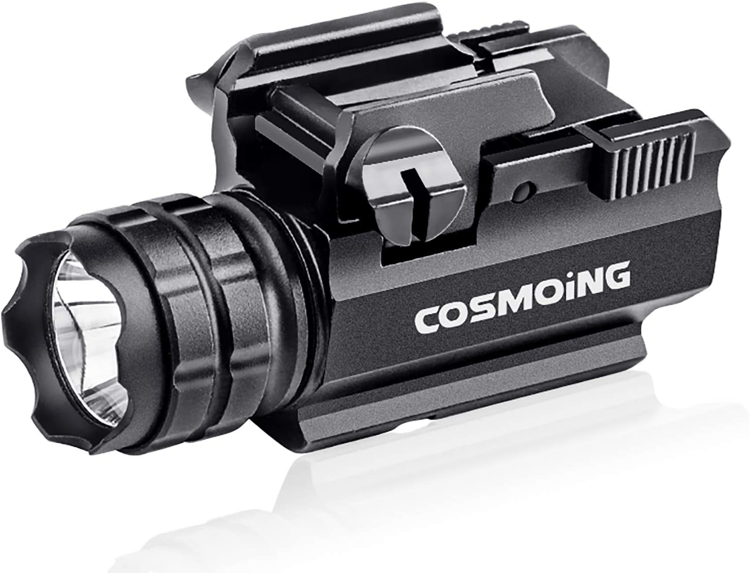 COSMOING Gun Max 43% OFF Flashlight Compact Tactical Outlet sale feature LED with Mounted Rail Q