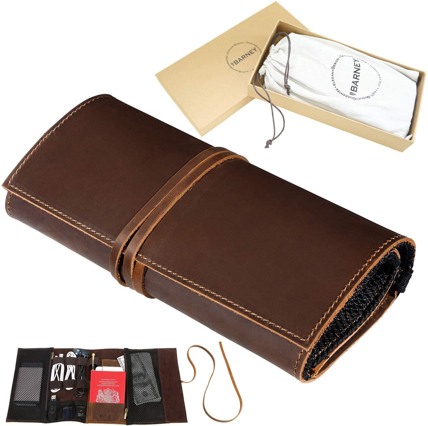 Leather Headphone Case Leather Cable Tidy