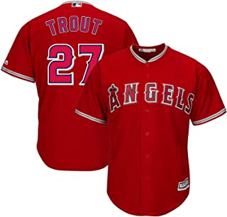Outerstuff Mike Trout Los Angeles Angels MLB Majestic Youth 8-20 Red Alternate Cool Base Replica Jersey