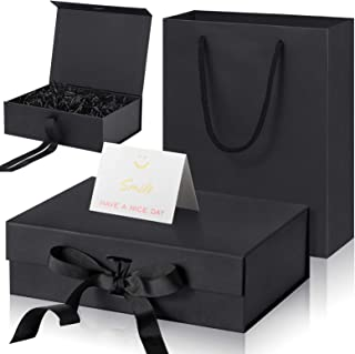 Luxury Present Box with Lids and Changeable Ribbon, Paper Bags, a Greeting Card and Tissue Paper Luxury Packaging Box Set ...