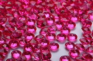 10000 pcs/Pack Wedding Table Scatter Confetti Crystals Acrylic Diamonds 4.5 mm Rhinestones for Wedding, Bridal Shower, Vase Beads Decorations (Rose red)