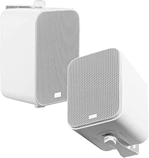 "OSD Audio 3-Way Outdoor Patio 4"" Speaker Indoor Outdoor Stereo Pair White AP450"