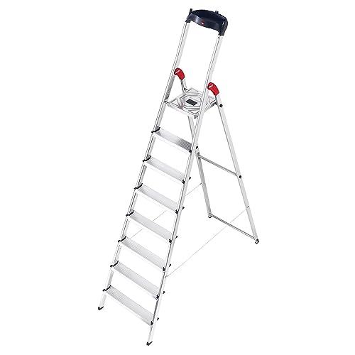 6 XXL-Stufen 8020-607 made in Germany abnehmb EasyClix Ablageschale Alu-Haushaltsleiter Hailo XXL Garden /& Home bis 150 kg Wiesenbodenleiste