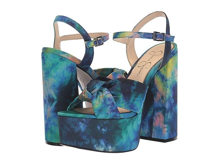 Jessica Simpson  Alesta (Blue Combo) Womens Shoes