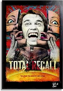 Arnold Schwarzenegger from Total Recall Movie - Pop-Art Original Framed Fine Art Painting, Image on Canvas, Artwork, Movie Poster, SciFi, Horror