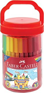 Faber-Castell - Connector Pens Bucket (50 markers) - Premium Art Supplies For Kids