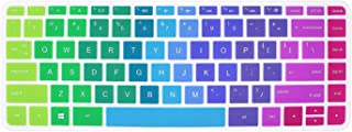 Colorful Keyboard Cover for HP 14-ab 14-ac 14-ad 14-an, Stream 14-ax Series,14-ab010 14-ab166us 14-ac159nr 14-al062nr 14-an010nr 14-an013nr 14-an080nr 14-ax010nr 14-ax020nr ax020wm (Rainbow)
