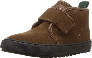 POLO RALPH LAUREN Kids Boys' Chett EZ Sneaker, Snuff Suede, M065 M US Toddler