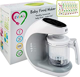 Baby Food Maker | Baby Food Processor Blender Grinder Steamer | Cooks & Blends Healthy Homemade Baby Food in Minutes | Sel...