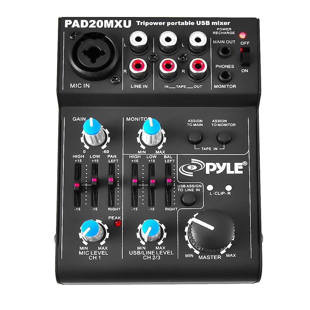 Pyle Channel Audio Mixer Professional