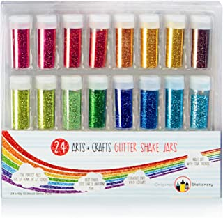 Original Stationery Glitter Set - Extra Fine Slime Making Supplies For Crafts & Arts - Ideal For Face, Nail, Eye And To Ma...