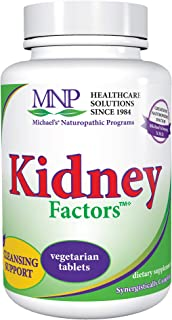 Michael's Naturopathic Programs Kidney Factors - 60 Vegetarian Tablets - Nutrients for Kidney Function & Calcium Processin...