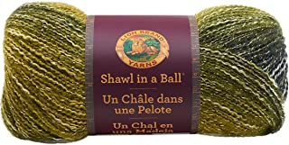 Lion Brand Yarn 828-306 Shawl in a Ball Yarn, One Size, Graceful Green