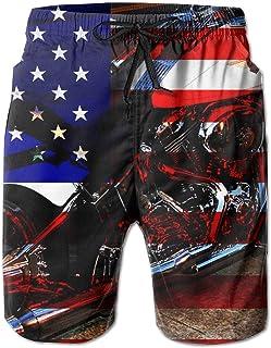 Mens Quick Dry 3D Printed Beach Trunks Board Shorts Casual Summer Swimwear Pants