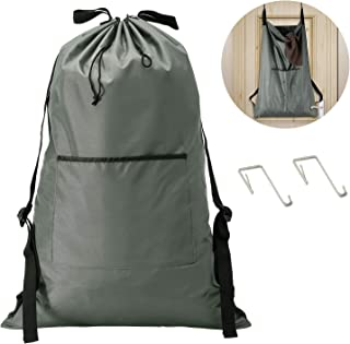 KEEPJOY XL Laundry Backpack, Dirty Laundry Bag 30 x 20 inch XL Laundry Hamper Door..