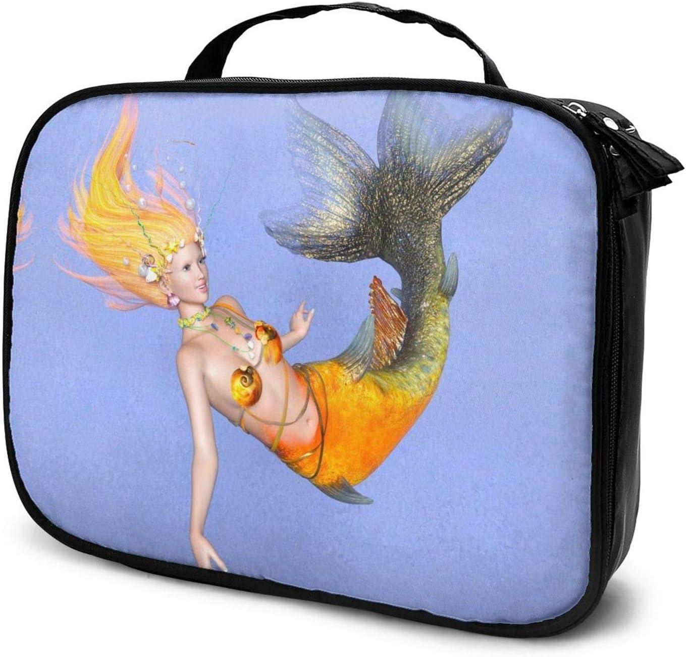 San Francisco Mall Beautiful Mermaid Travel Makeup 55% OFF Cosmetic Case Train