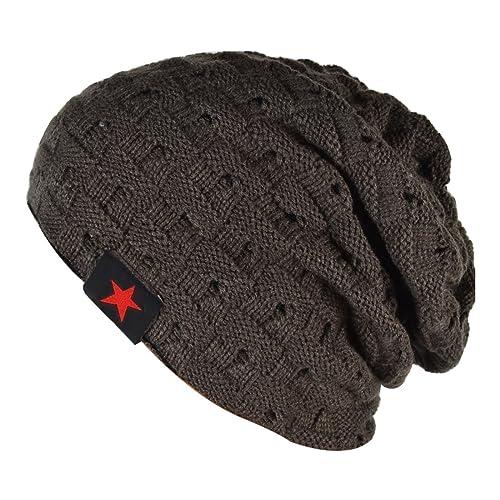 cc28a30a77d Thenice Men Reversible Slouchy Beanie Hat Unisex Skull Hat