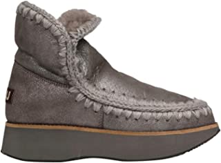 MOU Luxury Fashion Womens FW141000BDUIRO Grey Ankle Boots | Fall Winter 19