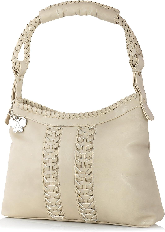 Butterflies Women's Handbag (Cream) (BNS 0535 CRM)