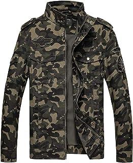 Sunward Men's Coat Fashion Camouflage Military Overcoat Large Tooling Jacket