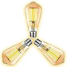 Vintage Retro Edison Lampen E27-Aansluiting,8W Warm wit licht (2300K) Edison LED-lamp voor Kroonluchter Plafondlamp Wandla...