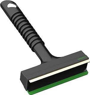 AUPROTEC Eiskratzer mit Messingklinge rutschfestem Rippen Griff und Gummilippe A 13 schwarz grün
